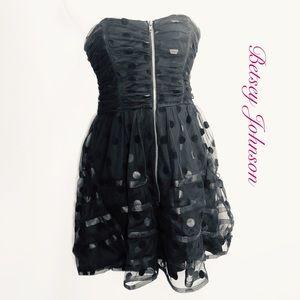 Betsey Johnson Strapless Black Party Dress 4